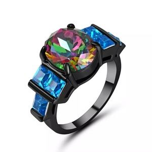 Multicolor Gemstone Ring - Size 8